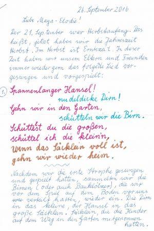 Brief von Oma Johanna – Seite 1